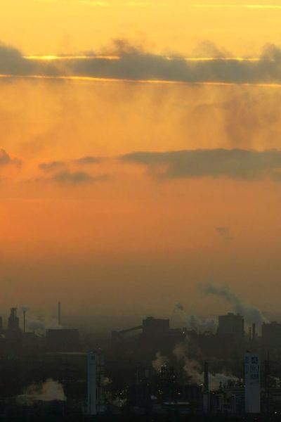 Jobs-Stellenangebote-Duisburg-Sonnenuntergang-Stahlwerk-Abendstimmung